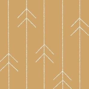 Geometric Dotted Arrows in Mustard