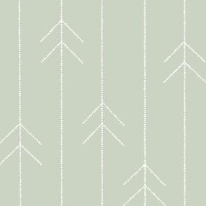 Geometric Dotted Arrows in Mint
