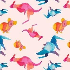 Aussie Animals Watercolor