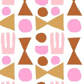 Shapes no1 in Pink & Brown