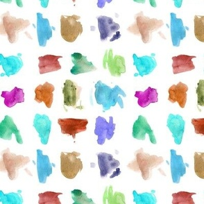 Vibrant modern art - watercolor painted stains - abstract expressive spots - creative mess a456-4