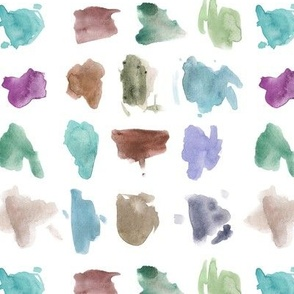 modern art - neutral colors - watercolor painted stains - abstract expressive spots - creative mess a456-6