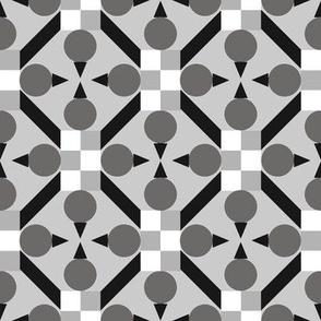Topsy Turvy Geometric Grid in Gray - Neutral Geometric Wallpaper Challenge August 2021Wallpaper Challenge
