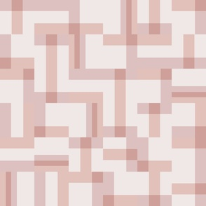 Geometric tiles-pink