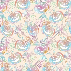 Pastel Halloween Jack O Lanterns -medium