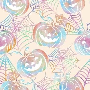Pastel Halloween Jack O Lanterns -large