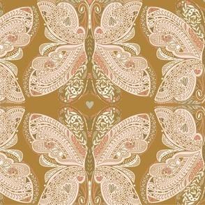 Beautiful Butterfly in ochre