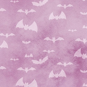 bats take flight - purple