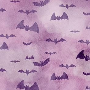 Bats Take Flight at Night