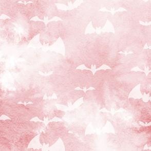 bats take flight - pink and white