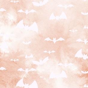 bats take flight - orange