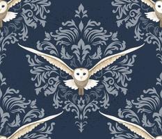 Barn Owls Damask - Large