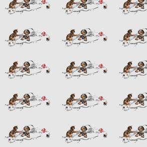 Doberman pups play