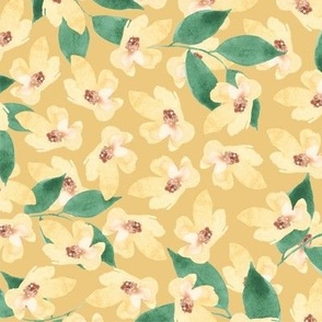 sweet blooms in butter yellow