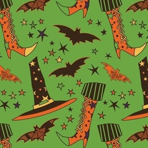 Witch Gear Green & Orange