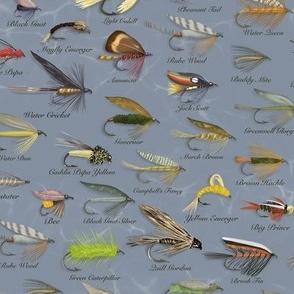 Fishing Flies Small Scale\\Men's Design \\Gray