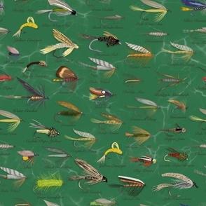 Fishing Flies Small Scale\\Men's Fabric\\Green
