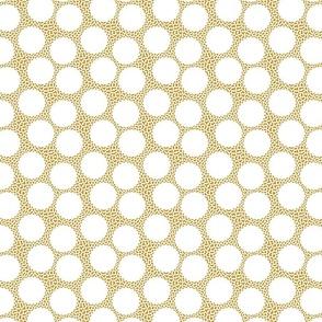 white circles on mustard vermicular
