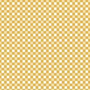 irregular gingham mustard yellow