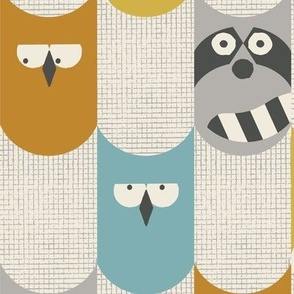 nocturnal animal babies cream large scale