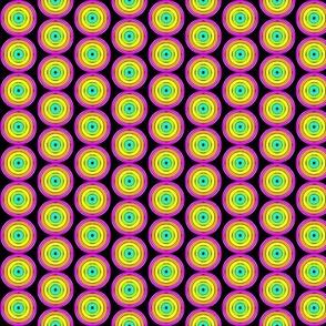 Retro Circles - Neon Black