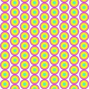 Retro Circles - Neon White