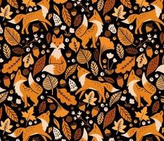 Autumn Foxes at Midnight