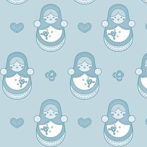 Russian Nesting Dolls Blue