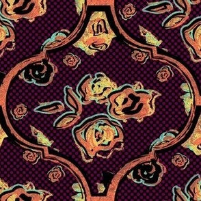 Maximalist Ogee Floral Grungy