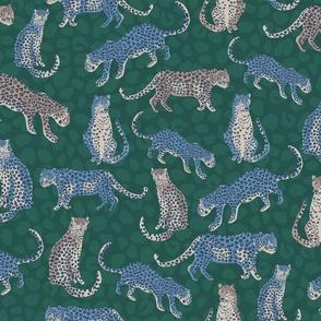 Cheetah Winter Green - Nerida Hansen