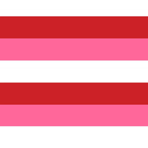 Thick Stripes - Red, Pink and White