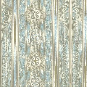 weathered wood - malibu blue, taupe and white