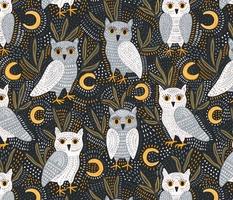 Snowy Owls At Night