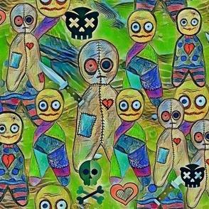 Voodoo dolls pastel