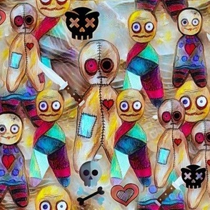 Voodoo doll collage