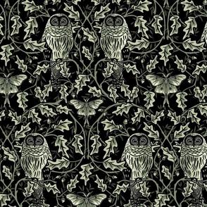 Owl In The Oak - Green - Large