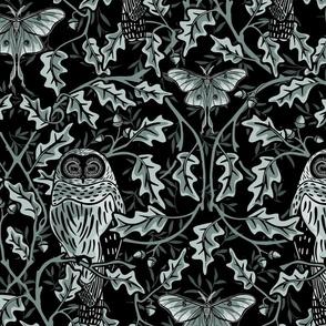 Owl In The Oak - Indigo - Extra Large