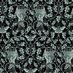 Owl InThe Oak - Teal - Large
