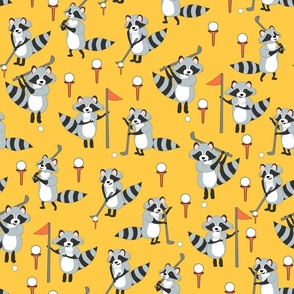raccoons golf gold
