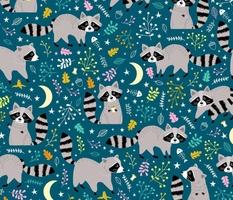 Trash Pandas Raccoons at Night