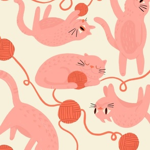 Cats and Yarn