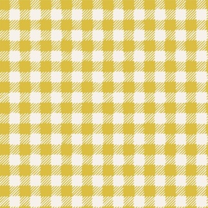 Scratchy Gingham Yellow - Nerida Hansen