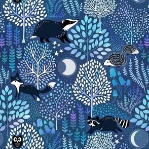 Nocturnal woodland blue