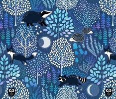 Nocturnal woodland