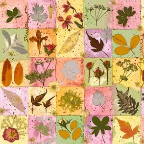 fall botanical squares