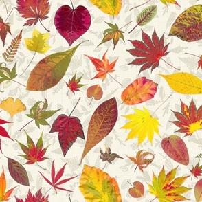 fall botanical linen yellower