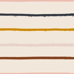 textured stripe on soft blush - large