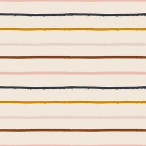 textured stripe on soft blush - medium