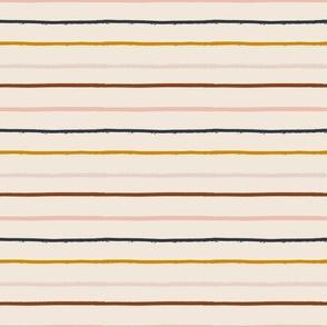 textured stripe on soft blush - small