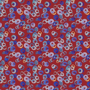 Watercolor Circles (large burgundy)